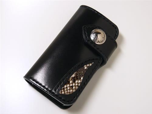 ダイヤモンドパイソン iPhone5/5s/SE サドルレザーケース ip5-1
