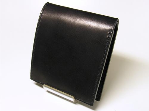 サドルレザー(ヌメ革)二つ折りウォレット プレーン hw3