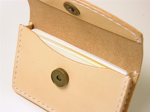 サドルレザー(ヌメ革) 名刺入れ カードケース
