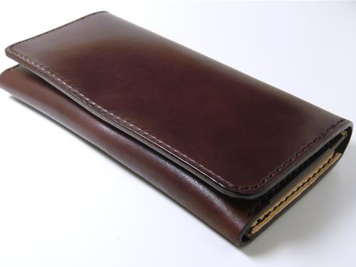 サドルレザー(ヌメ革)ロングウォレット、長財布 カード収納7室 lw7